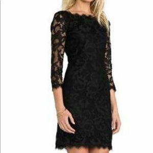The Perfect Little Black Dress DVF Zarita Size 8